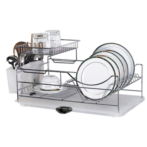 Dish Drainer With Extra Glass Tray Masflex