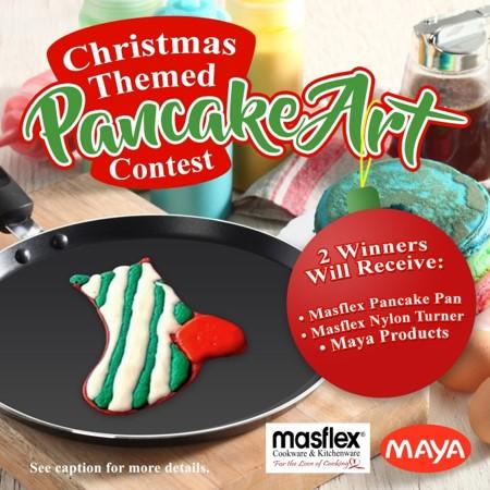 Christmas Themed Pancake Art Contest