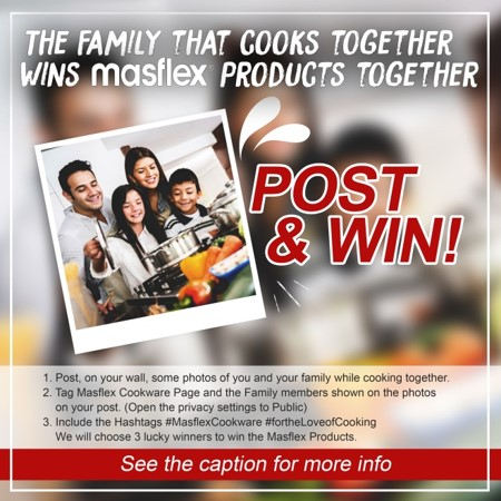 The Family the Cookware together Wins Masflex Products together!
