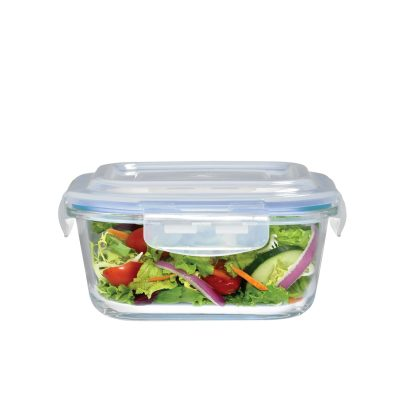 Square Glass Food Container