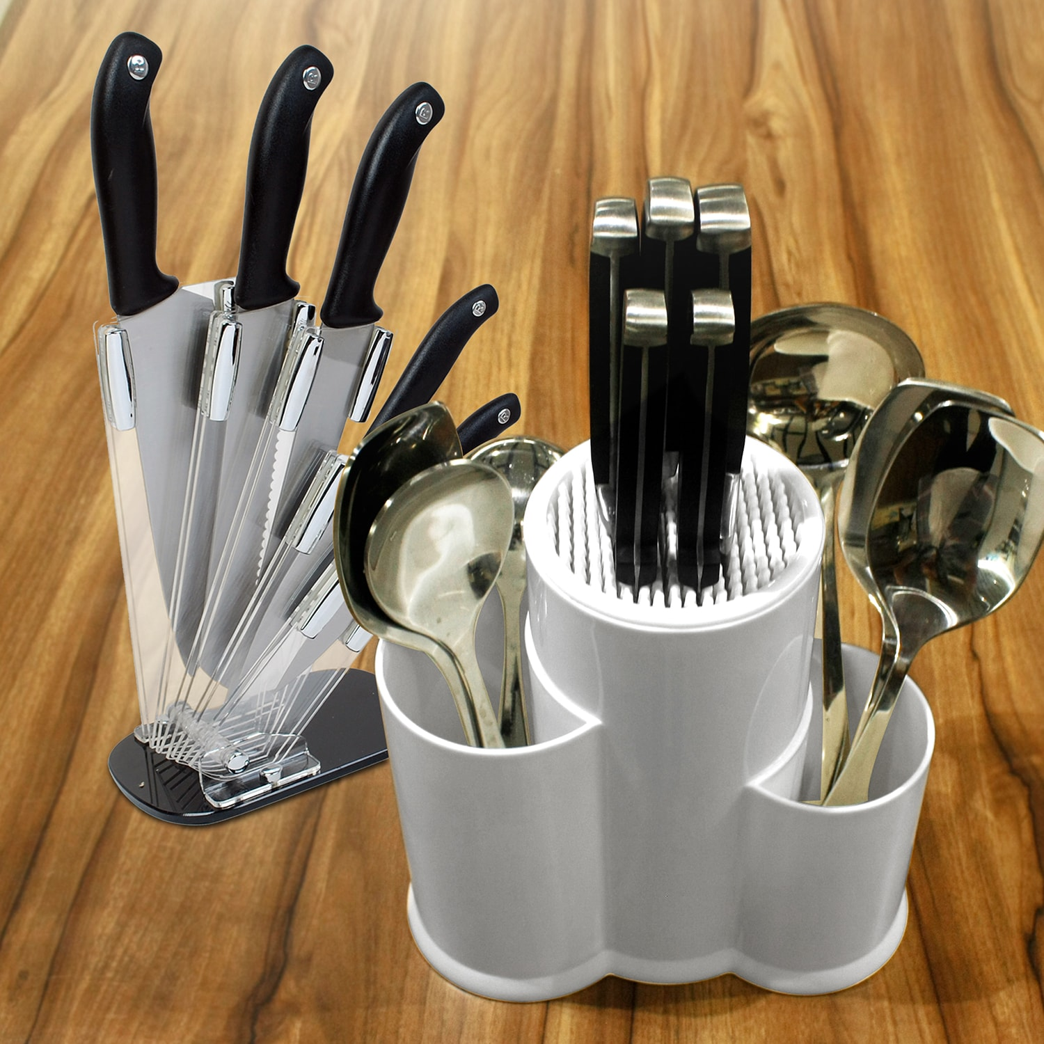 Masflex Knife Set and Knife and Utensil Block