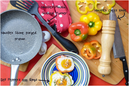 Masflex Kitchen Camp and My Bell Pepper Egg Rings Recipe