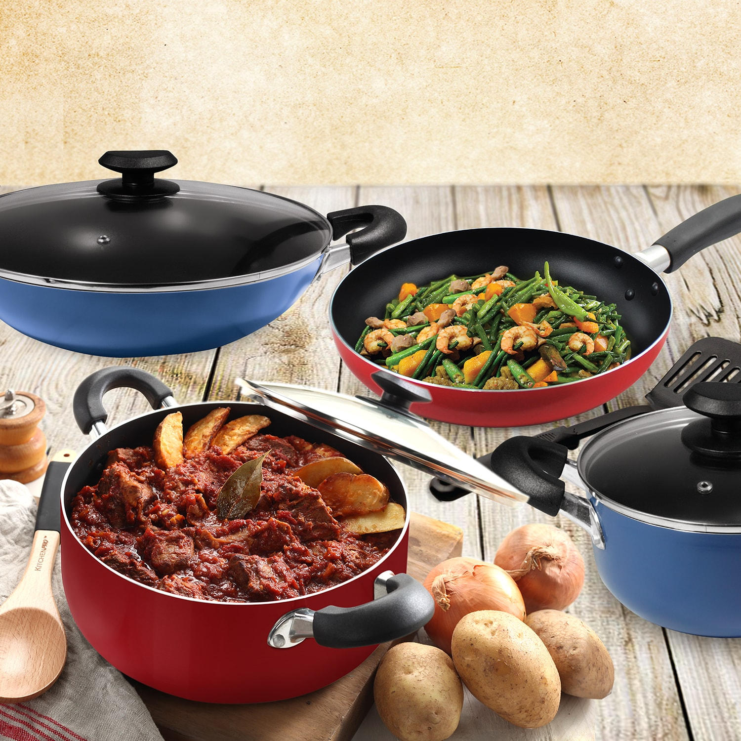 Masflex Classic Series Aluminum Non-stick Induction Cookware