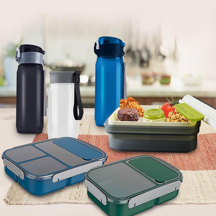 Masflex Lunch Box Bag Set and Sport Bottle